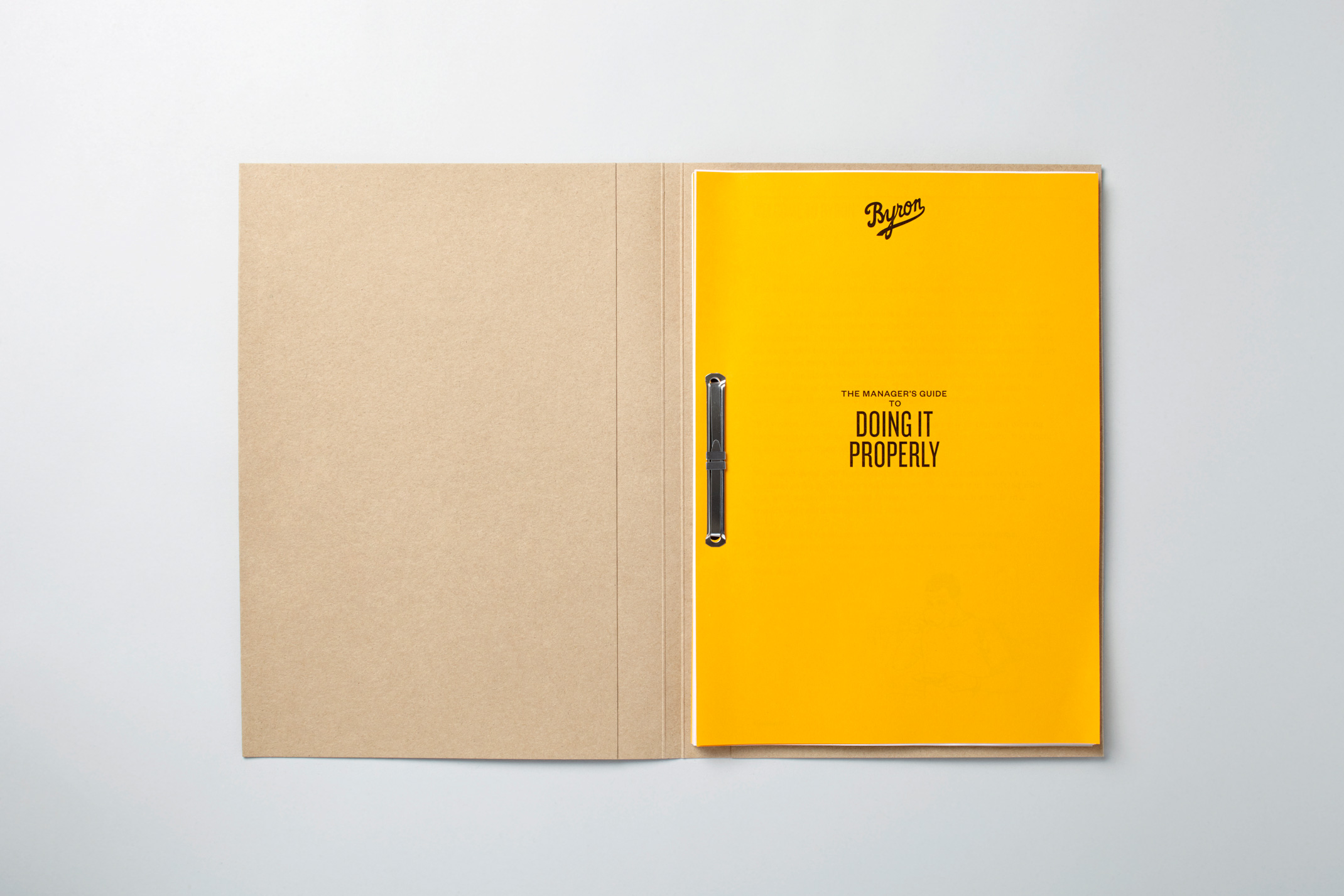Byron — Staff Manuals and Welcome Pack – Charlie Smith Design